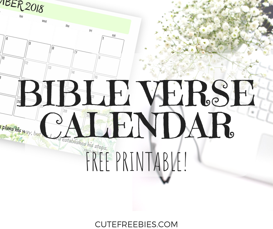 Bible Verse Calendar Printable Kitchen And Living Space Interior