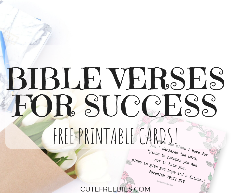 inspirational bible verses about success cards cute freebies for you