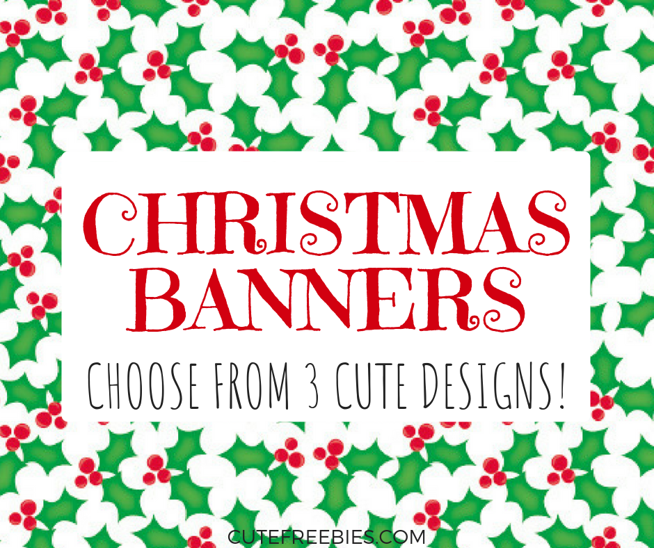 graphic relating to Printable Merry Christmas Banner called Free of charge Merry Xmas Flag Letters / Banners! - Lovable Freebies
