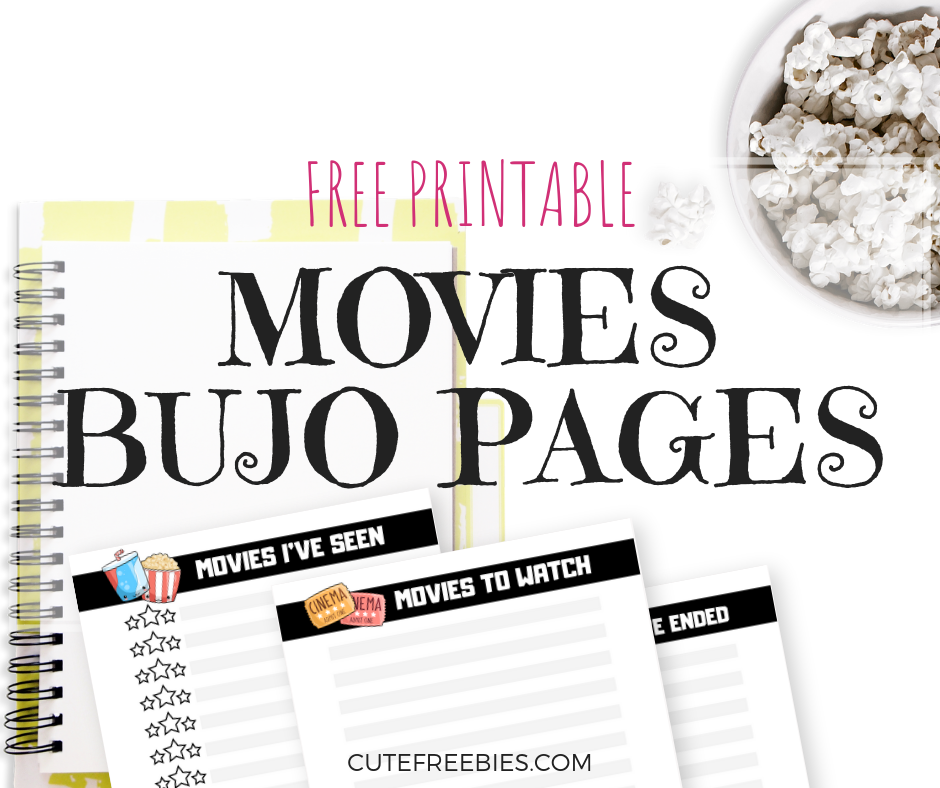 Movies Bullet Journal Printable Pages Cute Freebies For You