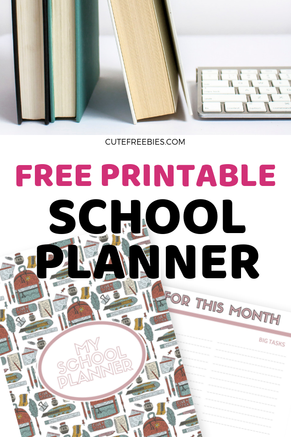 photograph relating to Student Planner Printable referred to as No cost College or university Planner Printables For 2019-2020! - Lovely