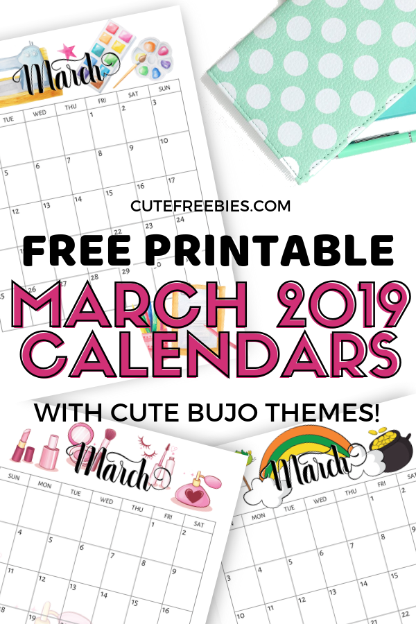 photo about Bullet Journal Calendar Printable referred to as March 2019 Calendar Printable - Bullet Magazine Themes