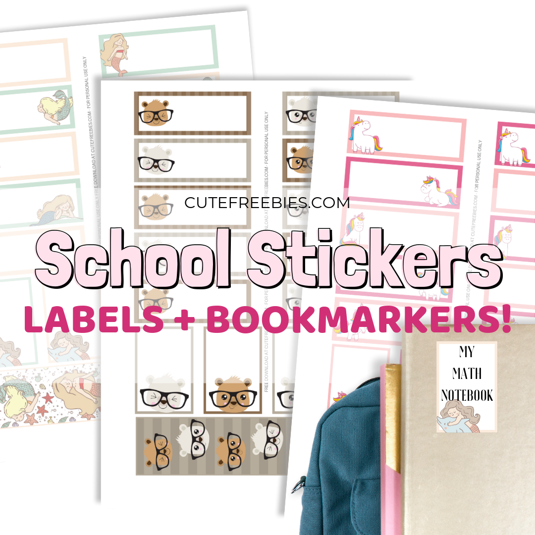 photograph regarding Printable Notebooks titled Printable University Label Stickers - Lovable Freebies For On your own