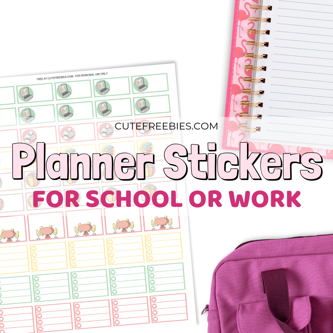 image regarding Free Printable Stickers known as Effort and hard work / College or university Planner Stickers - Totally free Printable! - Adorable