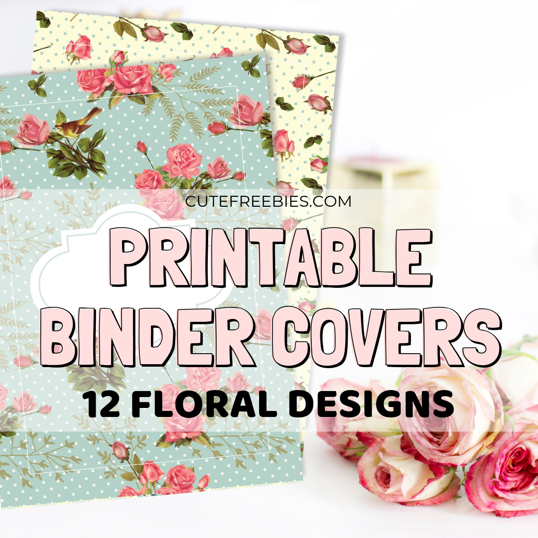 picture about Printable Binder Inserts identify Free of charge Printable Binder Addresses - Shabby Stylish Floral - Adorable