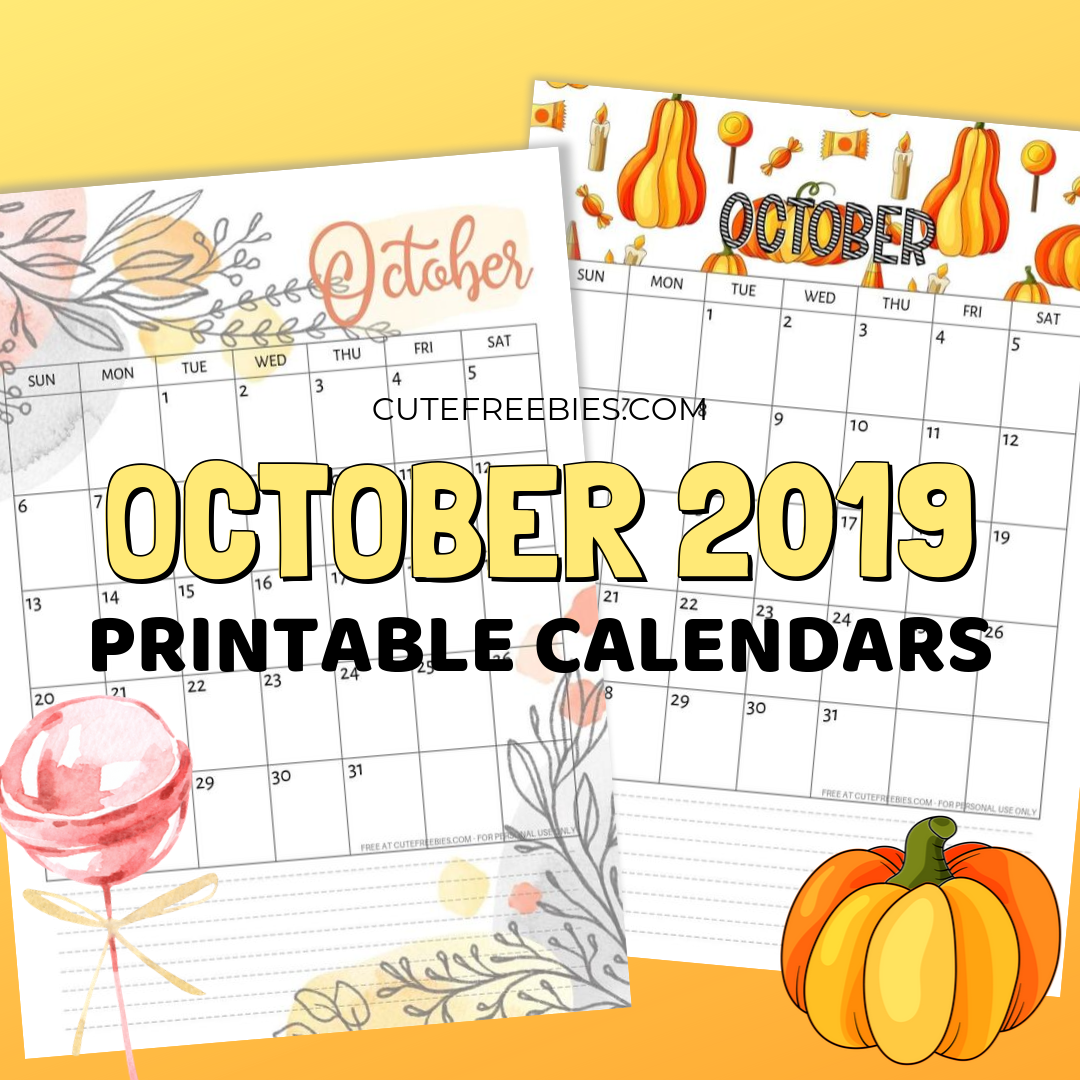 graphic regarding Freeprintable called Oct 2019 Calendar - Absolutely free Printable! - Lovable Freebies For On your own