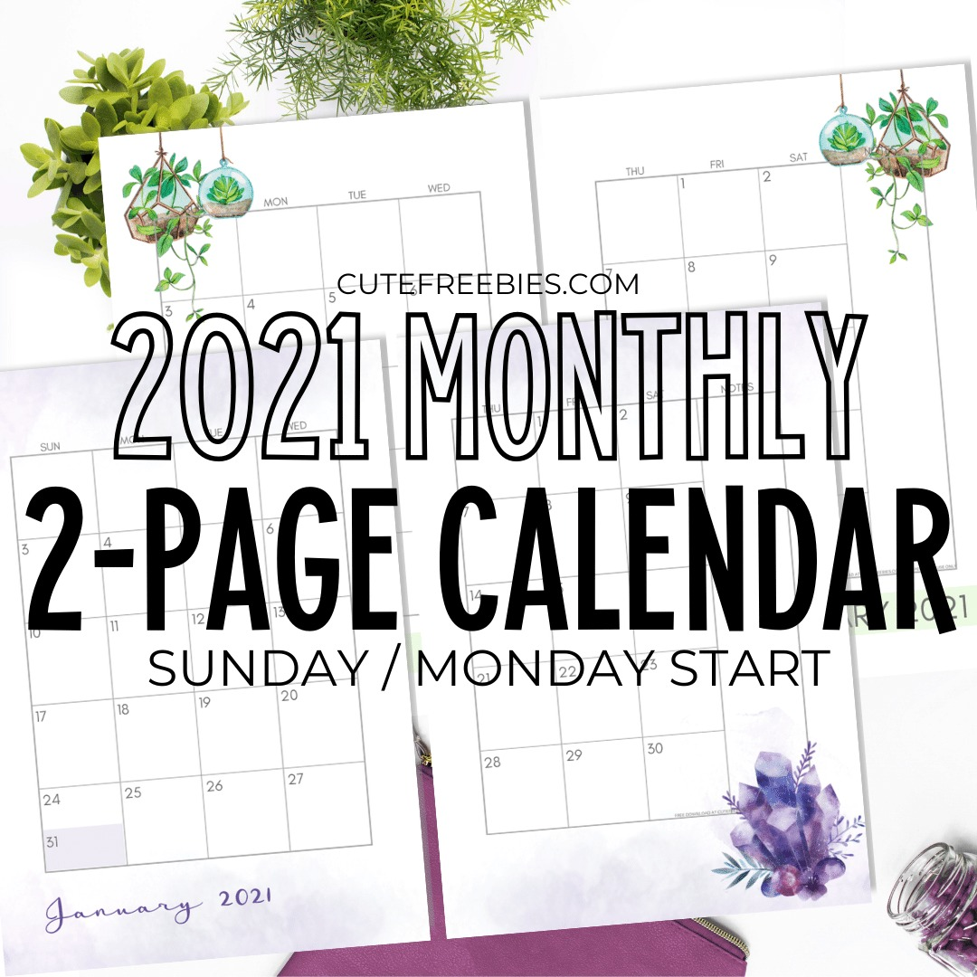 Pictures of Calendar Pages Printable 2021