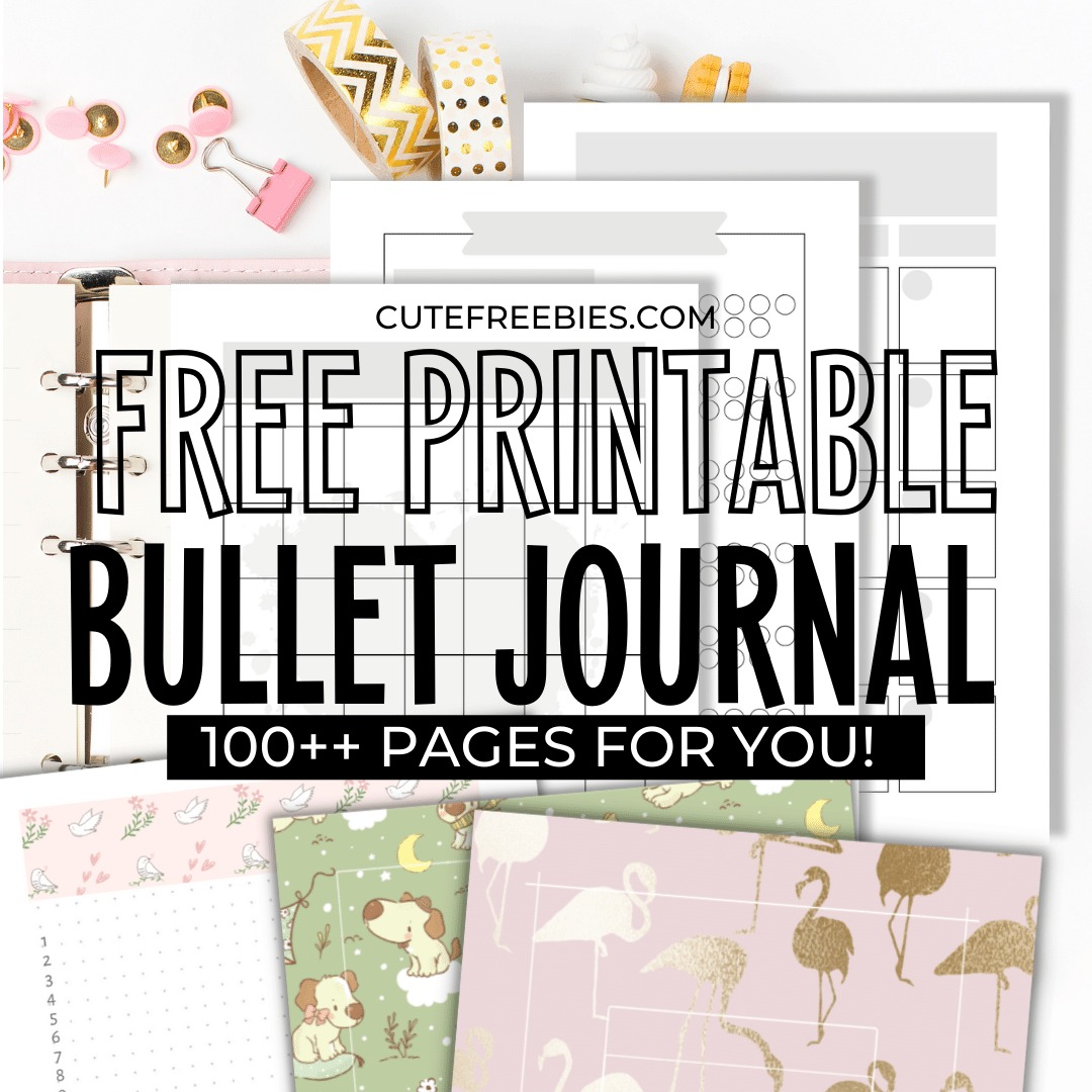 Free Bullet Journal Printable Templates Cute Freebies For You